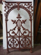Balustrade panels, cast iron x 6, additional panels can be recast to order