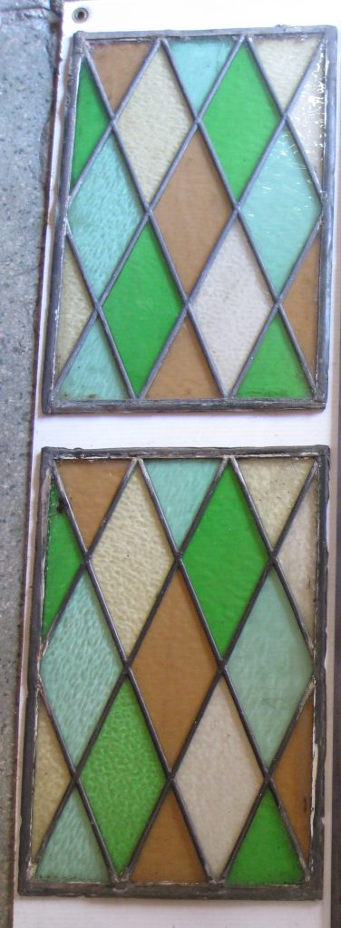 Harlequin diamond pattern leadlight panels, multi colour 430 x 285mm $50 each Harlequin diamond pattern leadlight panels only the small panels are left 430 x 285mm $50 each salvage recycled demolition, reproduction restoration, renovation, collectable, secondhand, used, original, old, reclaimed heritage, antique restored stained glass