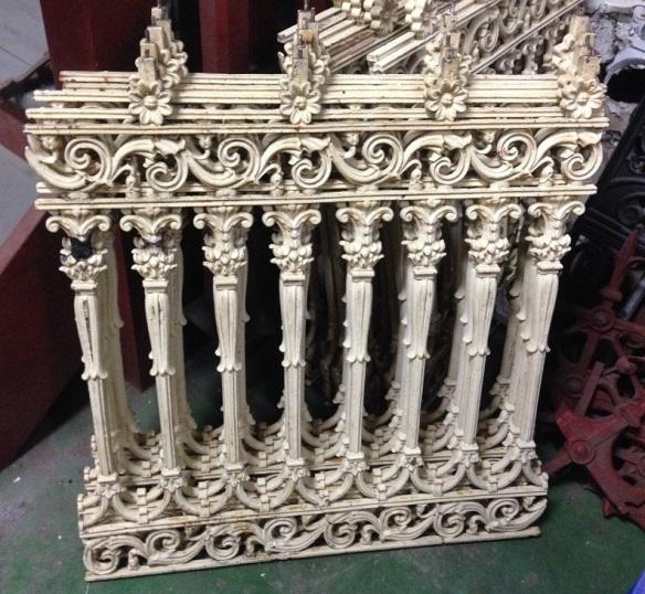 Verandah balustrade panels, cast iron