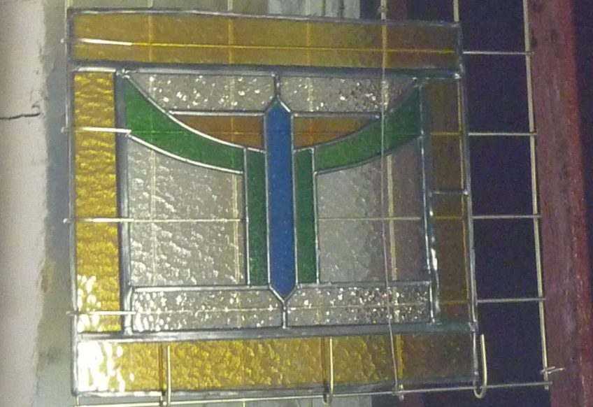Original Art Deco leadlight ex Queensland two available w510 x h430mm $245 each salvage recycled demolition, reproduction restoration, renovation, collectable, secondhand, used, original, old, reclaimed heritage, antique restored stained glass
