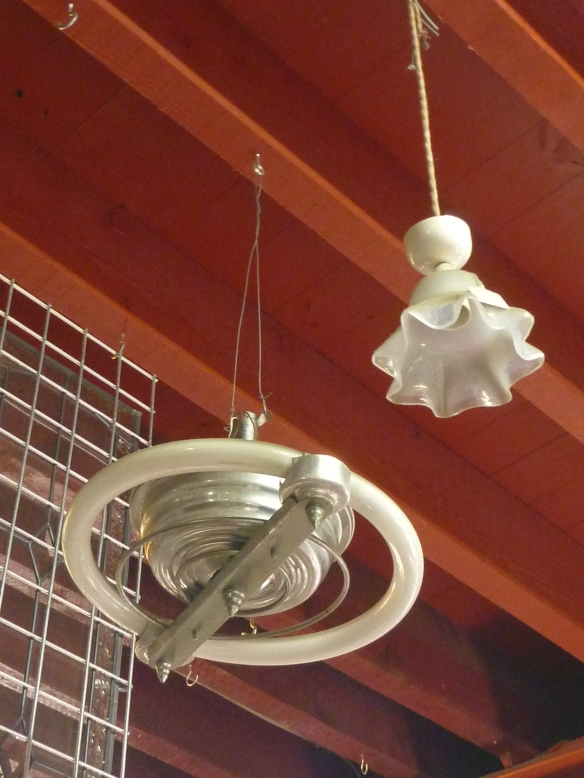 Art Deco fluoro light circular tube