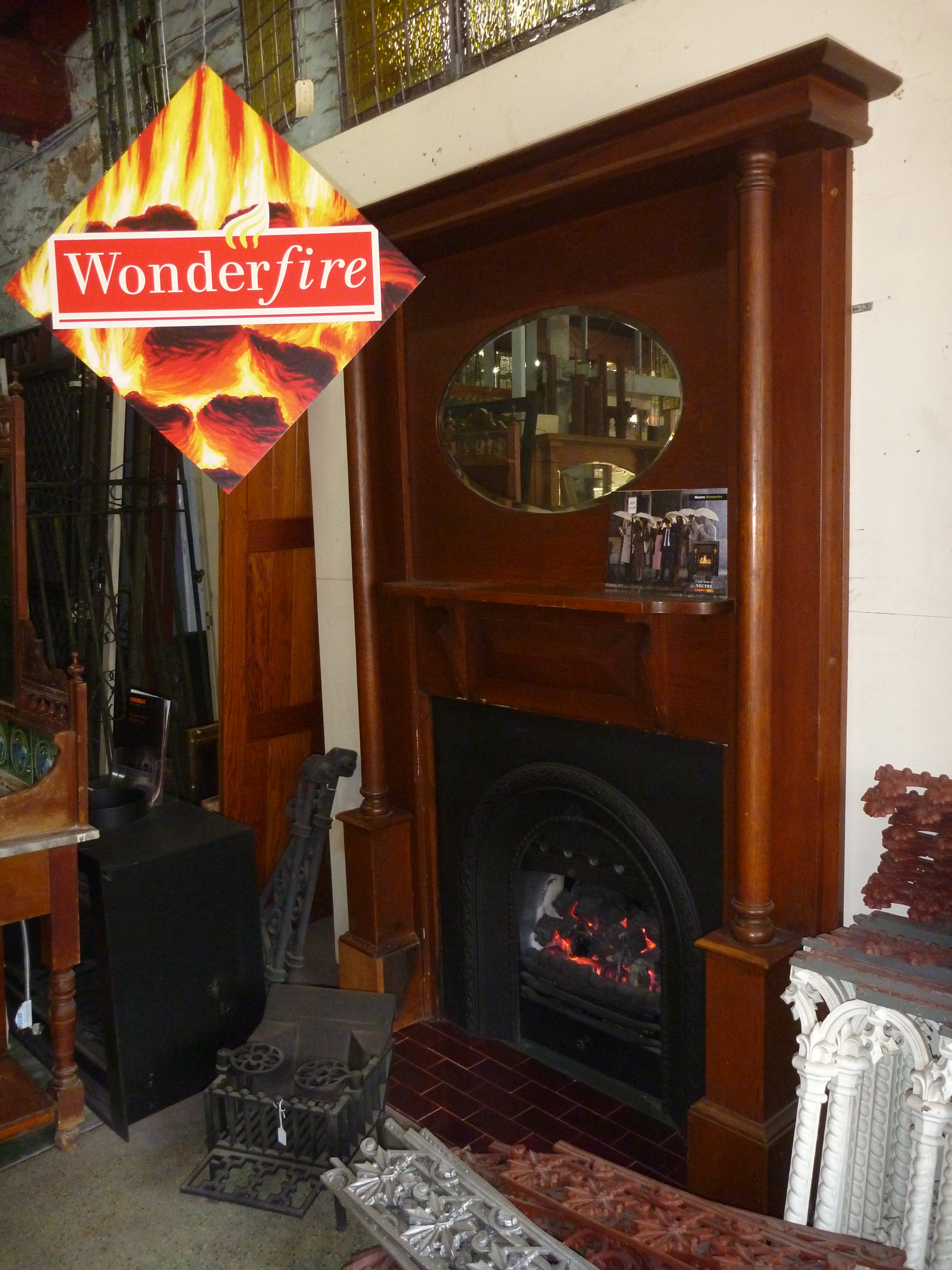 sam iron restored fireplace fireplaces and black hammered effects victorian cast finishes