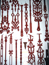 Cast iron baluster and balustrade panels, can be recast to order salvage recycled demolition, reproduction restoration, renovation, collectable, secondhand, used, original, old, reclaimed heritage, antique restored