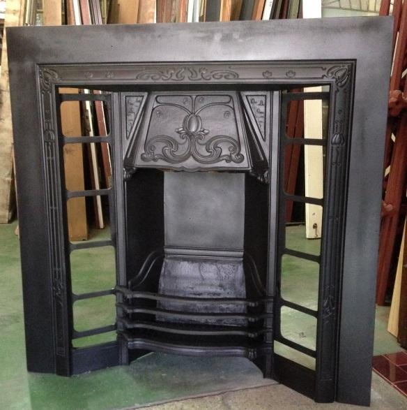 Original 604 cast iron tile fireplace insert 965 x 965mm $550
