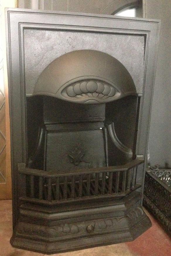 Original cast iron fireplace insert, restored, w490 x h735mm $500