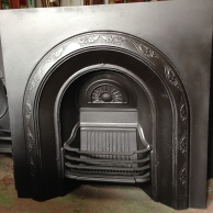 Original Ivy cast iron fireplace insert - matching pair available (as at 22/1/16) $495 salvage recycled demolition, secondhand, used, original, old, heritage, antique