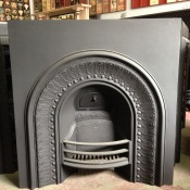 Original Model No 147 cast iron fireplace insert 915 x 915mm $495 salvage recycled demolition, secondhand, used, original, old, heritage, antique wood burning, fire grate