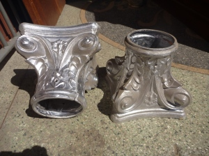 Verandah post capitals, aluminium 100mm diameter salvage recycled demolition, reproduction restoration, renovation, collectable, secondhand, used, original, old, reclaimed heritage, antique restored