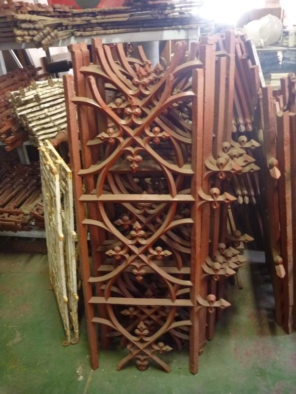 Original cast iron fence panels most panels 1470 x 570mm $220