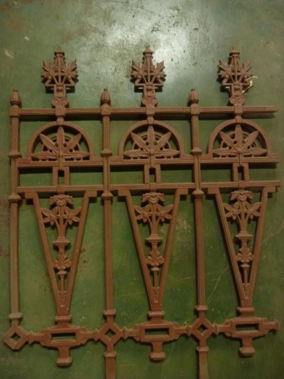 cast iron fence panel, original