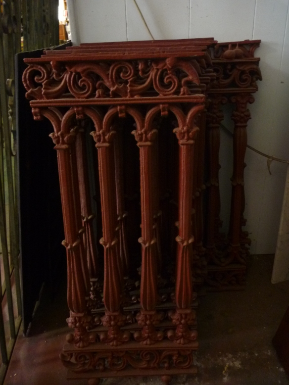 Verandah balustrade panels cast iron, additional panels can be recast to order salvage recycled demolition, reproduction restoration, renovation, collectable, secondhand, used, original, old, reclaimed heritage, antique restored