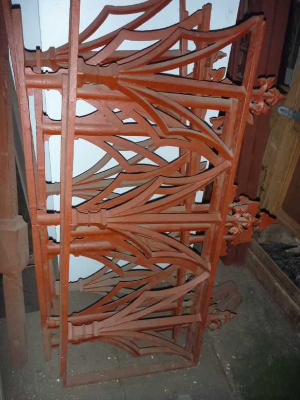 original cast iron fence panels some repair required 665h x approx. 5m $700