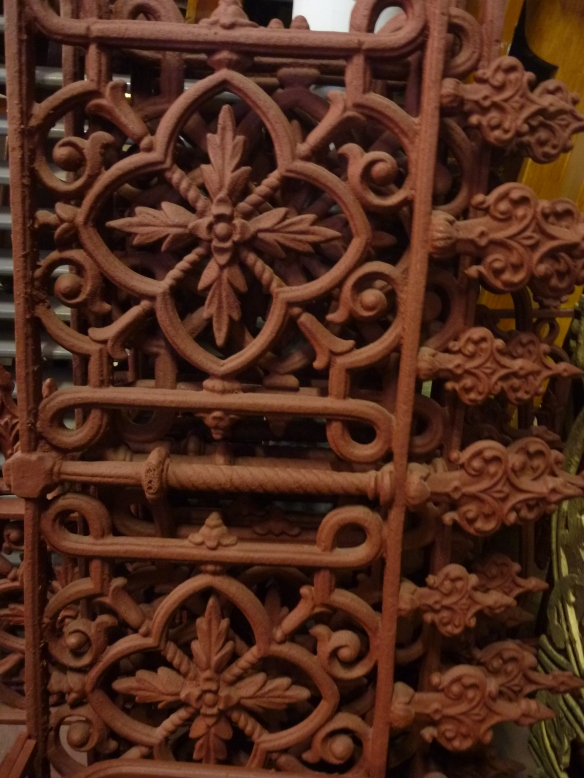 original cast iron fence panels x 4 $220each 920w x 510hsalvage recycled demolition, secondhand, used, original, old, heritage, antique