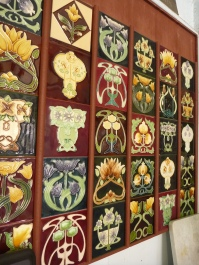 Reproduction fireplace place picture tiles