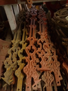 Stair balusters bannister, cast iron, additional pieces can be recast to order salvage recycled demolition, reproduction restoration, renovation, collectable, secondhand, used, original, old, reclaimed heritage, antique restored