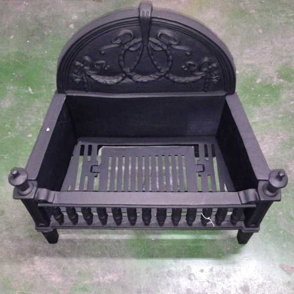 Fire basket, cast iron, Gothic. salvage recycled demolition, reproduction restoration, renovation, collectable, secondhand, used, original, old, reclaimed heritage, antique restored