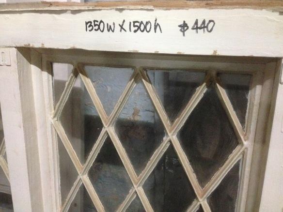 Lattice window frame 3 panel 1350w x 1500h $440 inc gst