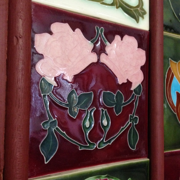 reproduction tube line tiles $ 33 each salvage recycled demolition, reproduction restoration, renovation, collectable, secondhand, used, original, old, reclaimed heritage, antique restored