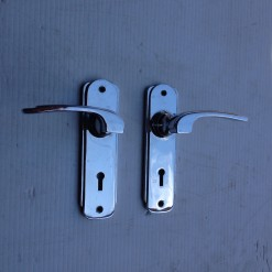 1940's chrome door handle sets x 14, $25 a set