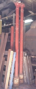 salvage recycled demolition, reproduction restoration, renovation, collectable, secondhand, used, original, old, reclaimed heritage, antique restoredoriginal cast iron support posts $550each one has damage 2850high