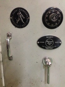 Combination lock safe, Victoria Safe Company Pty Ltd w605 x d660 x h765 $660