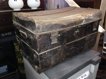 Rustic metal trunk $45