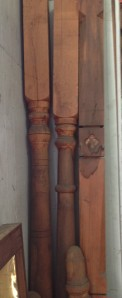 Assorted heavy timber verandah and staircase newel posts salvage recycled demolition, reproduction restoration, renovation, collectable, secondhand, used, original, old, reclaimed heritage, antique restored
