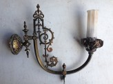 Original Victorian wall mount gas light pair salvage recycled demolition, reproduction restoration, renovation, collectable, secondhand, used, original, old, reclaimed heritage, antique