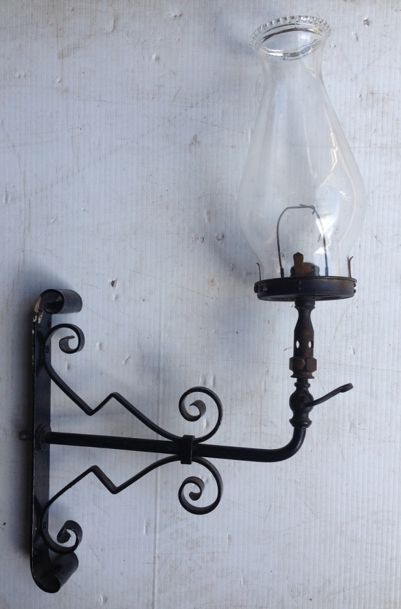Original Victorian gas wall lights, not converted to electricity, two available $185 each