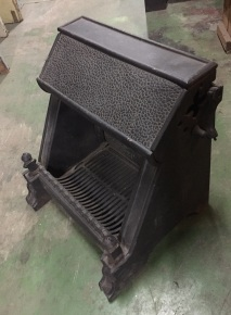 Victorian wood burning fire basket, original, cast iron, restored, width 475 x height 520 x depth 420mm, $330 salvage recycled demolition, reproduction restoration, renovation, collectable, secondhand, used, original, old, reclaimed heritage, antique wood burner, open fire wood burner, open fire