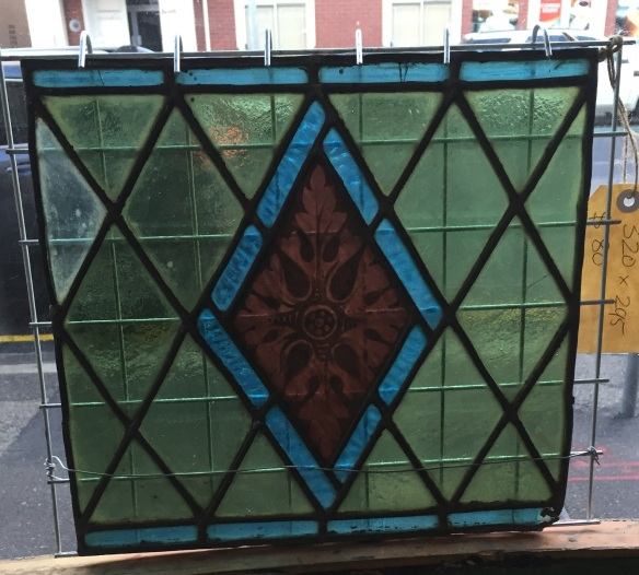full colour leadlight panel 320 x 295mm $120 salvage recycled demolition, reproduction restoration, renovation, collectable, secondhand, used, original, old, reclaimed heritage, antique