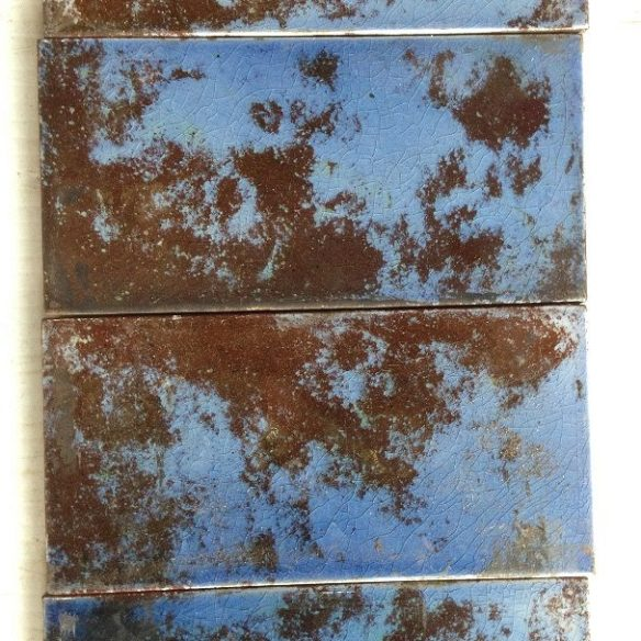 detail of mottled blue half tiles . set 27 salvage recycled demolition, reproduction restoration, renovation, collectable, secondhand, used, original, old, reclaimed heritage, antique restored