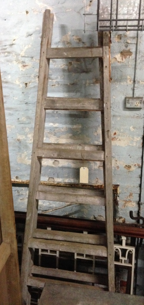 Pair of tall timber trestles, suit use as shelving supports h 2440 x w700mm $450 pair