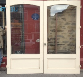 French doors, glass panels, large proportions w2330 x h2370mm
