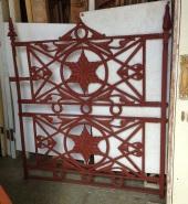 early Scottish cast iron pedestrian gate 1200w 1350h $1100