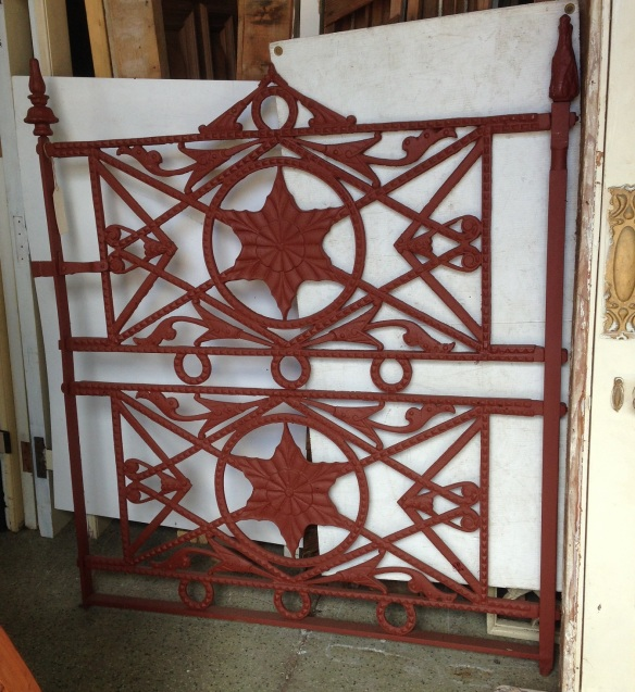early Scottish cast iron pedestrian gate 1200w 1350h $1100