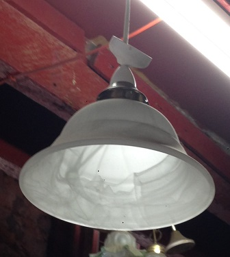 small glass pendant light approx. 250mm diam