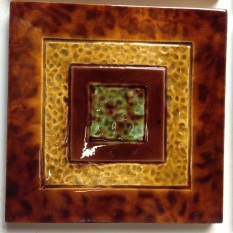 Original tiles, Tortoise shell glaze on border, x 6, some light scratches on some. $27.50 each can split in multiples of two salvage recycled demolition, reproduction restoration, renovation, collectable, secondhand, used, original, old, reclaimed heritage, antique restored
