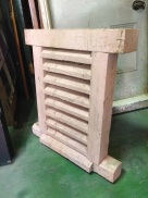 Solid timber louvre window/vent 455 x 655mm $220
