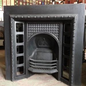 original Victorian fireplace insert, cast iron, smaller frame w965 x h965 $550 wood burner, open fire