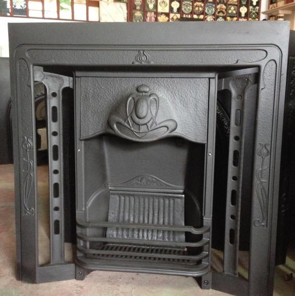 original turn of the century fireplace insert, cast iron, smaller frame w965 x h965 $550