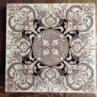 Original Victorian fireplace tiles 6 x 6 inch $28