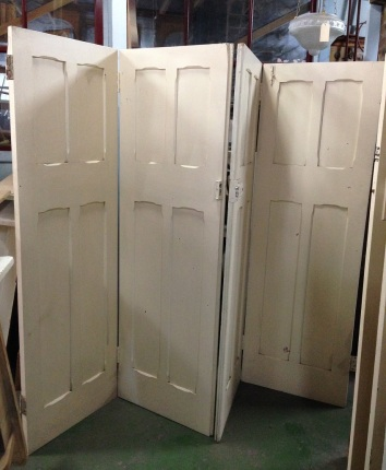 Tall four panel bifold doors, set of four. approx w 2690 x h 2630mm $660