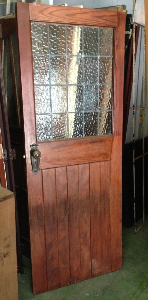 Timber door, clear ripple glass leadlight w785 x h1972mm $345 salvage recycled demolition, reproduction restoration, renovation, collectable, secondhand, used, original, old, reclaimed heritage, antique restored