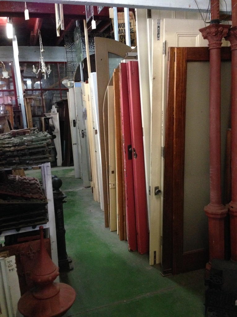 Internal and external doors; including Victorian cricket bat, Bungalow, French doors, leadlight doors and frames, dunny doors...