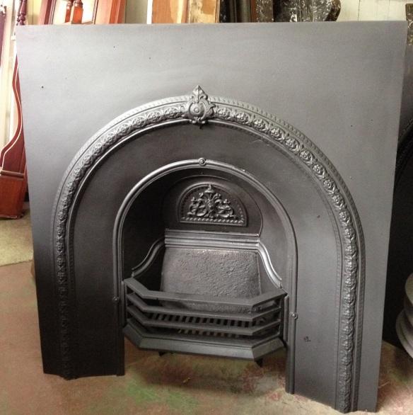 Original No. 5 cast iron fireplace arch insert w910 x h965mm $550