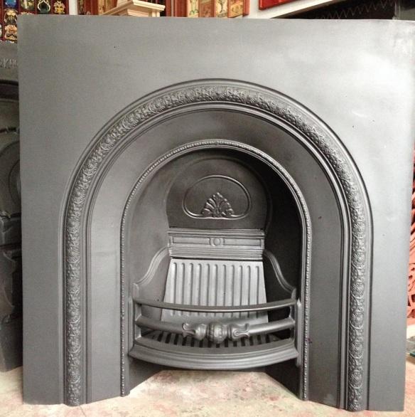 Cast iron arch fire grate insert 965 x 965mm $550