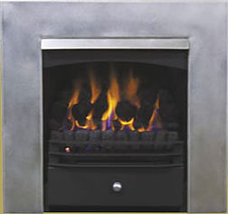 Nectre Wonderfire with stainless steel fascia facia - we can convert your original fire grate