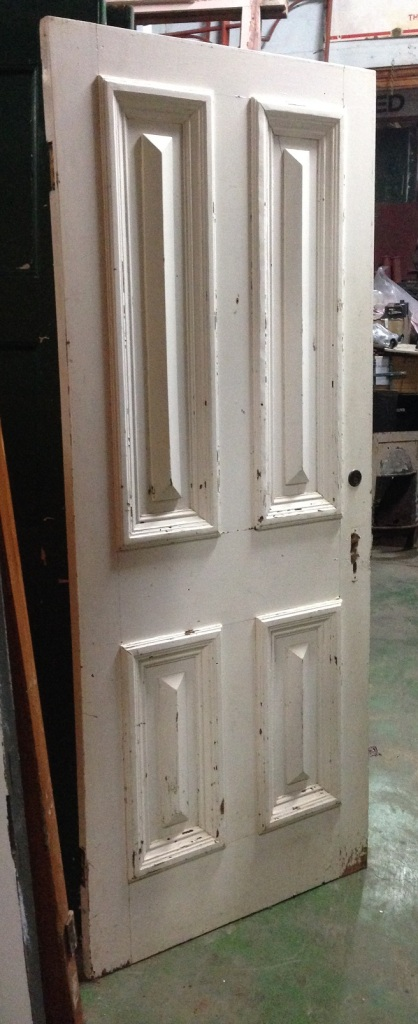Victorian front door, cricket bat w855 x h2060mm $440 salvage recycled demolition, reproduction restoration, renovation, collectable, secondhand, used, original, old, reclaimed heritage, antique restored