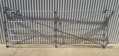 Faithfully reproduced Simpson 10 foot farm gate including hinges, convex radials, cast iron and steel as per originals, L3095 x 1300mm $1820 + gst